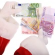 Group of money in hand of santa claus. — Stock Photo #1049231