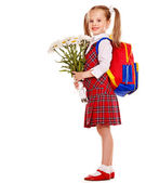 Child with backpack. — Stock Photo