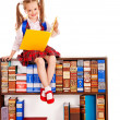 Child with stack book. — Stock Photo #12070048