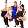 Dancing group — Stock Photo