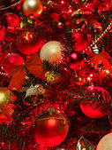 Christmas background with red tree. — Stock Photo