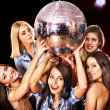 Womon disco in night club. — Stock Photo #12100060