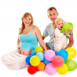 Family with pregnant woman and child. — Stock Photo #12100233