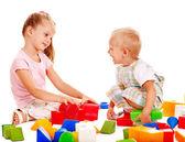 Yapı taşları çocuk oyun. — Stok fotoğraf