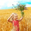 Royalty-Free Stock Photo: Child in wheat field.