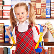 Child with stack book. — Stock Photo #12242141