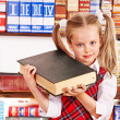 Child with stack book. — Stock Photo #12242156