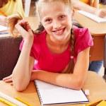 School child sitting in classroom. — Stock Photo #12242248