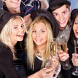 Group young at nightclub. — Stock Photo #12242310