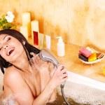 Woman take bubble bath. — Stock Photo #12242347