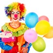 Portrait of clown. - Stock Photo