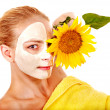 Woman with facial mask. — Stock Photo