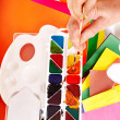 Hand with paintbox. — Stockfoto