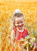 Child in wheat field. — Stock Photo