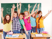 Group of school child in classroom. — Stock Photo
