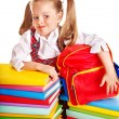 Child with stack book. — Stock Photo #12798133