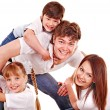 Happy family with children. - Foto Stock