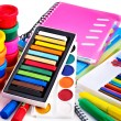 Group of school supplies. — Stock Photo
