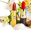 Decorative cosmetics and flower. — Stock Photo #12798806