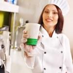 Female chef uniform. — Stock Photo