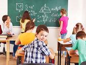学校与老师的孩子. — 图库照片