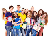 Group student with notebook. — Stock Photo