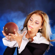 Young woman with crystal ball. — Stock Photo #12810198