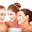 Group women with  facial mask. - Photo