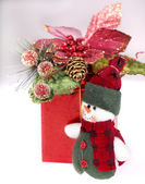 Christmas decoration with fir branch. — Stock Photo