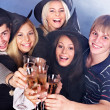 Group young drinking champagne. — Stock Photo #13078451