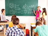 School kind met leraar. — Stockfoto