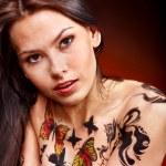 Girl with body art. — Stock Photo #13089291