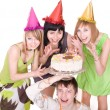 Cheerful group of young — Stock Photo #1334291