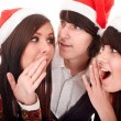 Group in santa claus claus. — Stock Photo #1337135