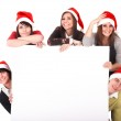 Group whith banner. — Stock Photo #1337171