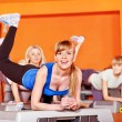 Happy women in aerobics class. - Foto Stock