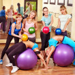 Women in aerobics class. - Foto Stock