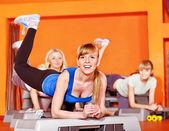 Happy women in aerobics class. — Stock Photo