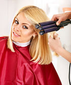 Woman at hairdresser. — Stock Photo