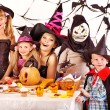 Stock Photo: Halloween party with children.
