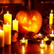 Halloween pumpkin lantern. - Stockfoto