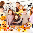 Family on Halloween party with children. — Stock Photo #13614680