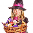 Royalty-Free Stock Photo: Witch children at Halloween party.
