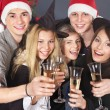 Group young drink champagne. — Stock Photo