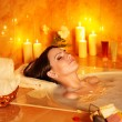 Woman take bubble bath. — Stock Photo #13614794