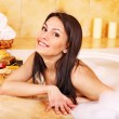 Stock Photo: Womtake bubble bath.