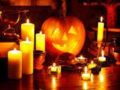 Halloween pumpkin lantern. — Stock Photo