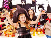 Halloween party with children. — Stock Photo