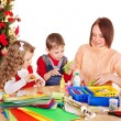 Kids making decoration for Christmas. — Stock Photo #13783719