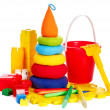 Children toys with bucket. - Stock fotografie